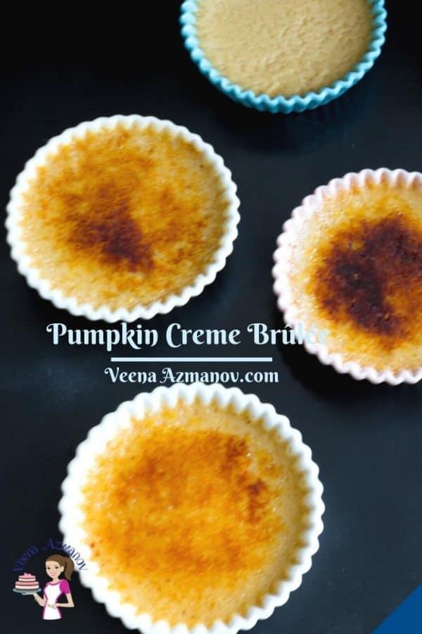 Pinterest image for pumpkin creme brûlée.