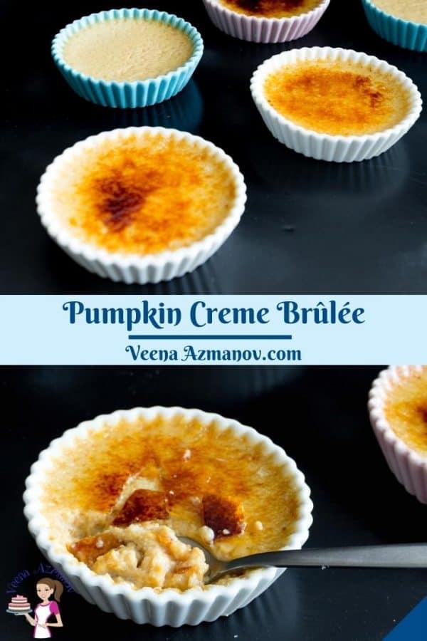 Pinterest image pumpkin creme brûlée.