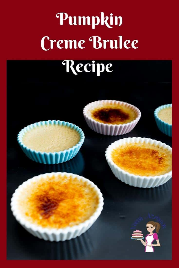 Perfect fall dessert for Thanksgiving Pumpkin Creme Brûlée Recipe with step by step video tutorial