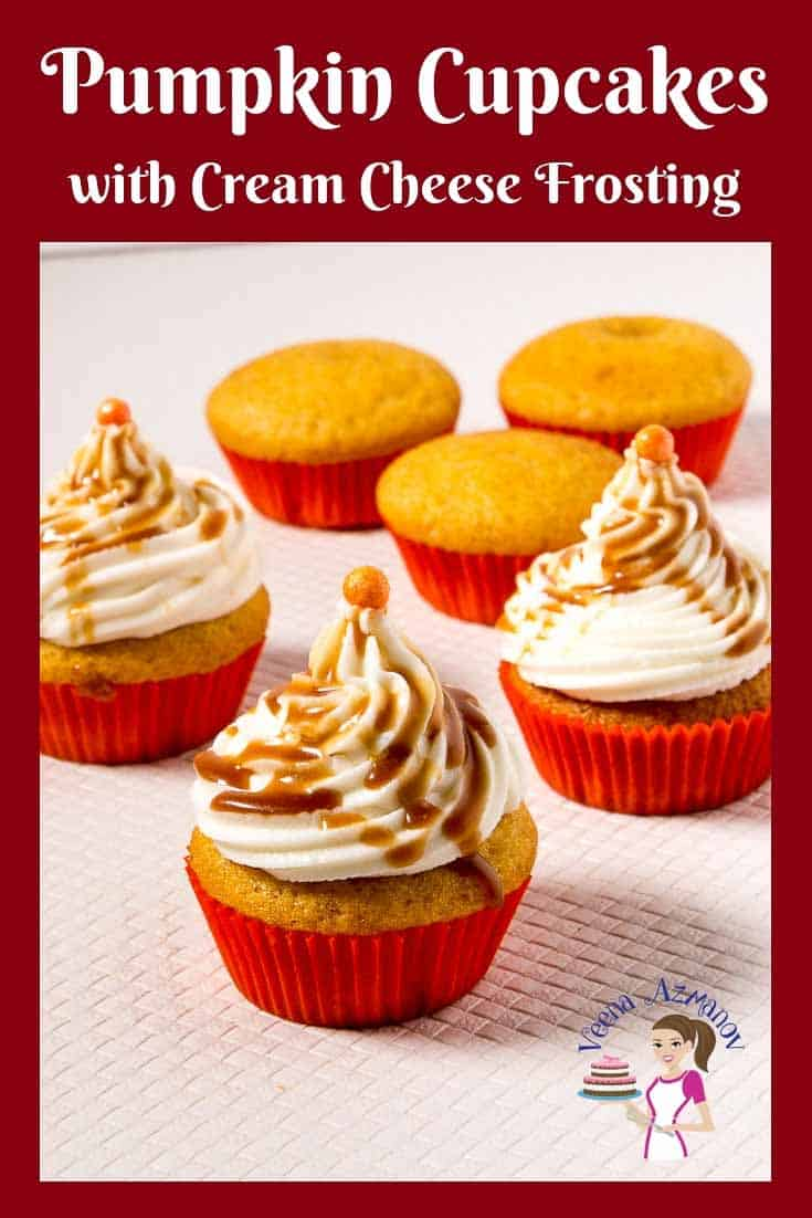 Celebrate the pumpkin season this autumn with these easy pumpkin cupcakes with cream cheese frosting that just melt in your mouth. #pumpkin #cupcakes #creamcheese #frosting #fall #recipes #desserts via @Veenaazmanov