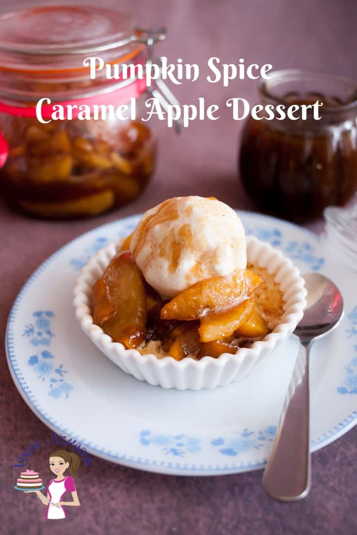 This is comfort food, pumpkin spiced caramel apple dessert perfect for this winter.