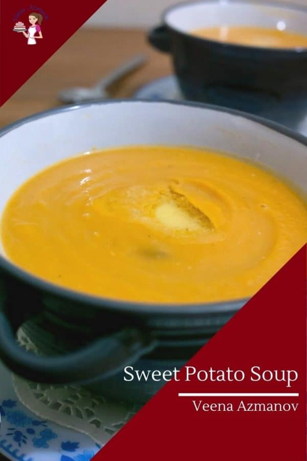 How to make Homemade Soup with Roasted Sweet Potatoes