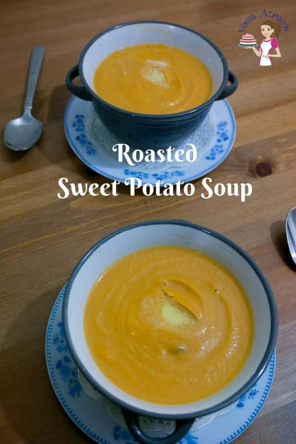 Nothing is more perfect in winter than a bowl of comforting roasted sweet potato soup made with yogurt or coconut cream.