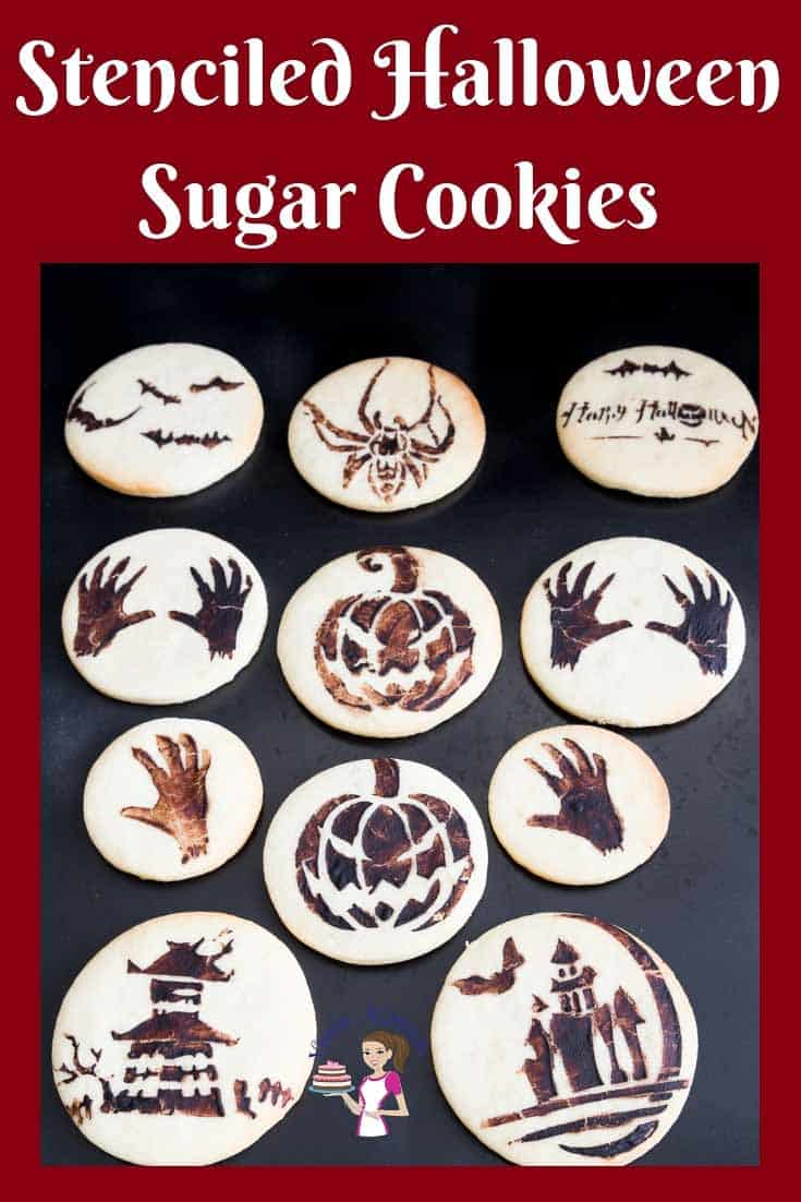 Try something fun with the kids this Halloween. Make some stenciled Halloween Sugar Cookies with this step by step video tutorial #stenciled #halloween #cookies #sugar #tutorial via @Veenaazmanov