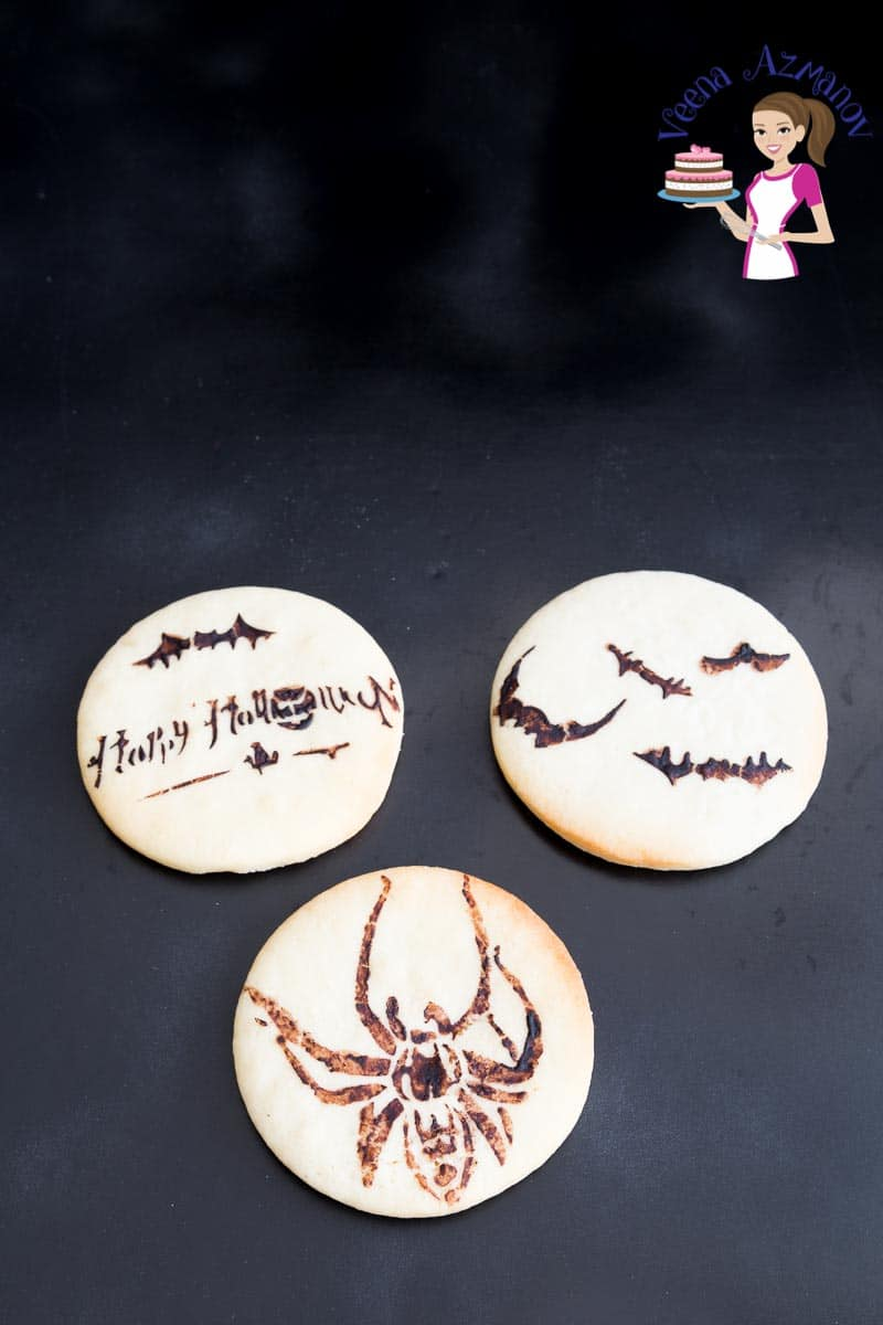 A variety of stenciled sugar cookies.