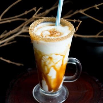 Make a homemade caramel eggnog from scratch this holiday seasons to celebrate with family and friends.