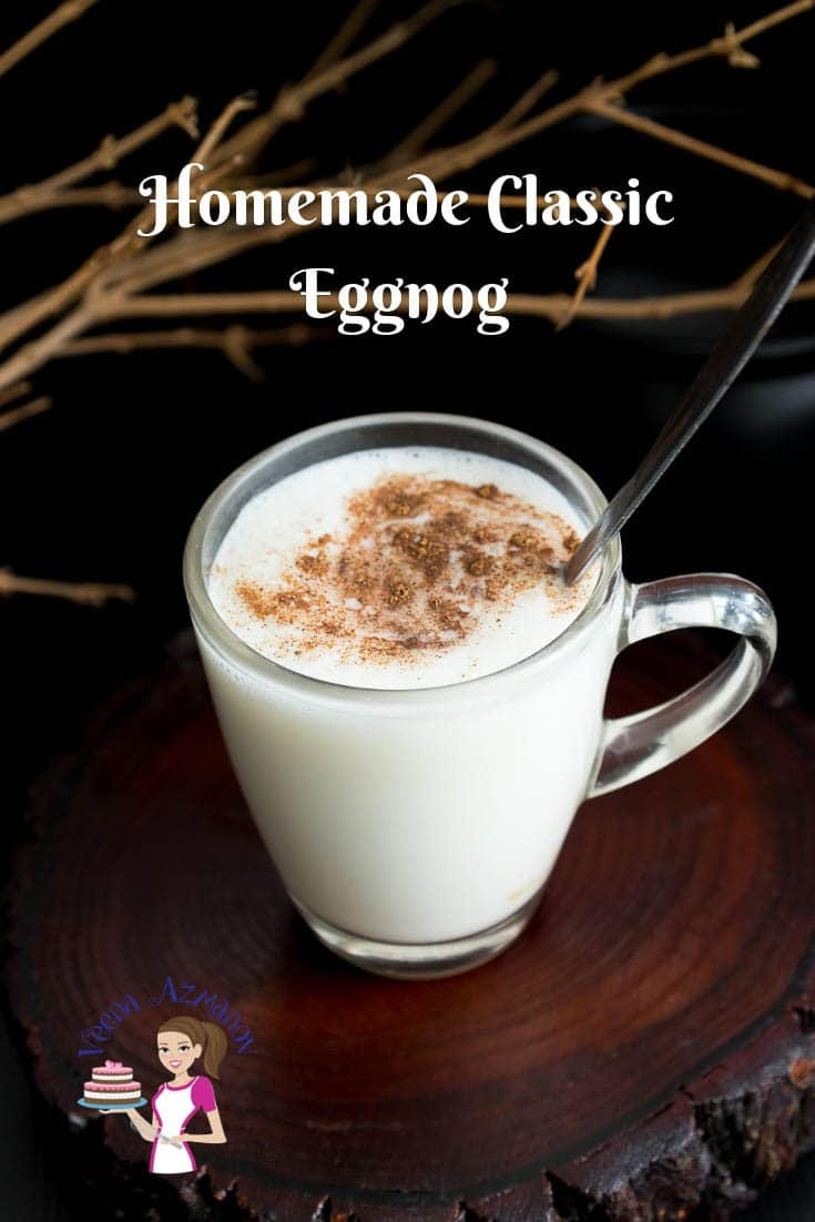 A perfect holiday treats means classic homemade eggnog on Christmas with family and friend.