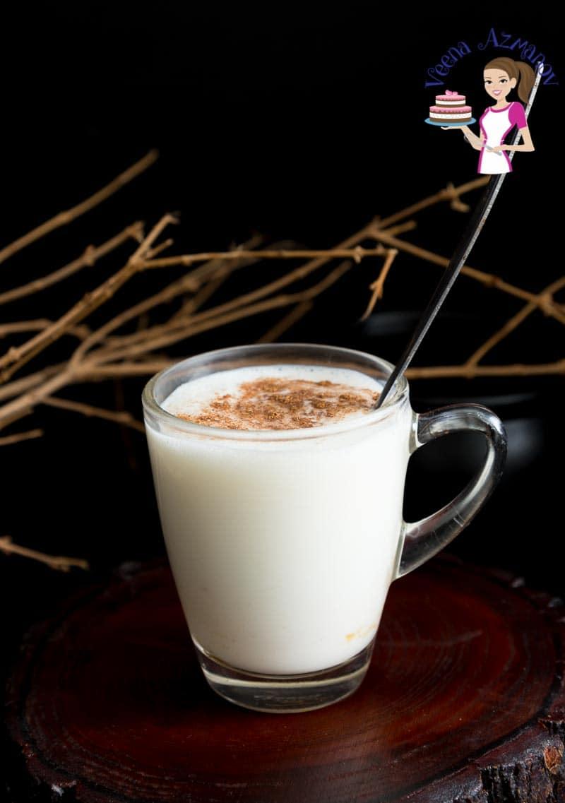 A cup of eggnog.