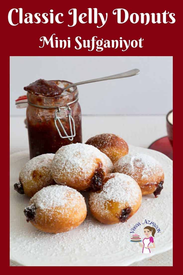 Jelly donuts or Jam doughnuts are deep-fried Israeli delicacies made to celebrate Jewish festival fo Hanukah