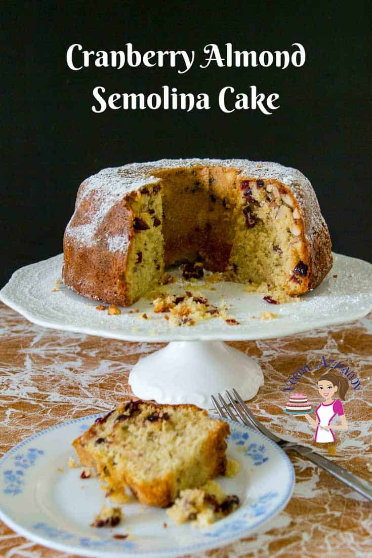 Rich, decadent, melt in your mouth almond semolina cake makes a perfect tea time treat on a cold rainy day.