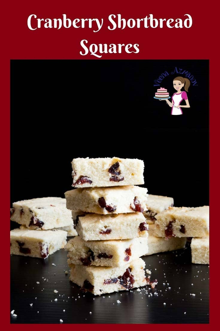 Make sweet crumbly cranberry shortbread squares in less than 40 minutes. Holiday gifts don't get easier than this. Do they?