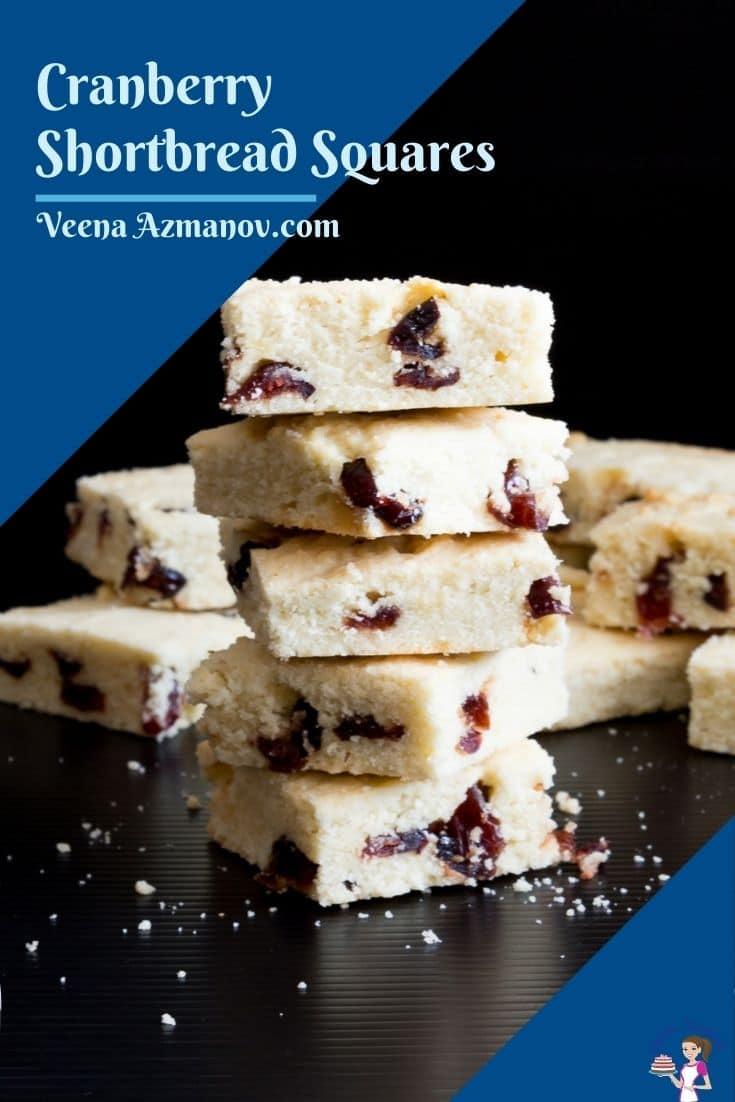 Pinterest image for shortbread squares