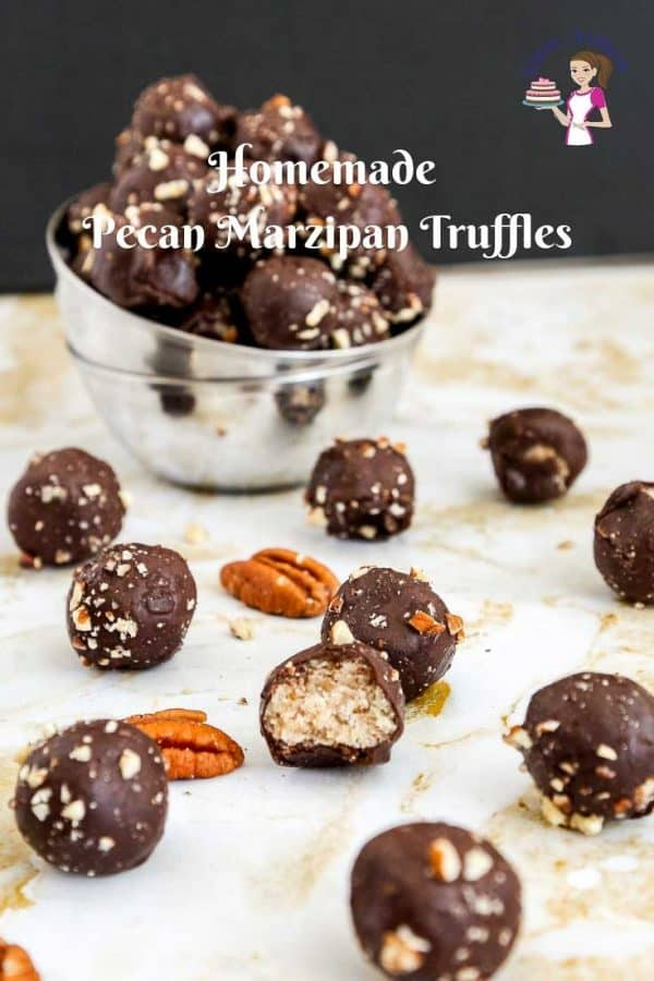 Homemade pecan marzipan truffles make perfect gifts to family and friends this holiday season with this step by step video tutorial.