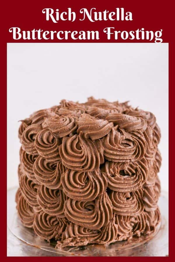 A cake with chocolate buttercream frosting.