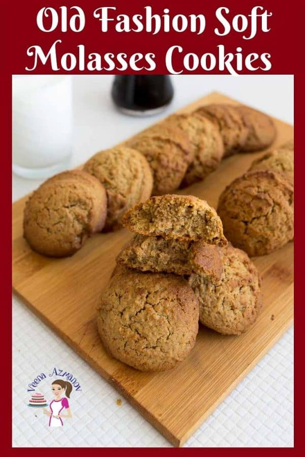 These are the Best Old Fashion Soft Molasses Cookies just like mom use to make when you will little.