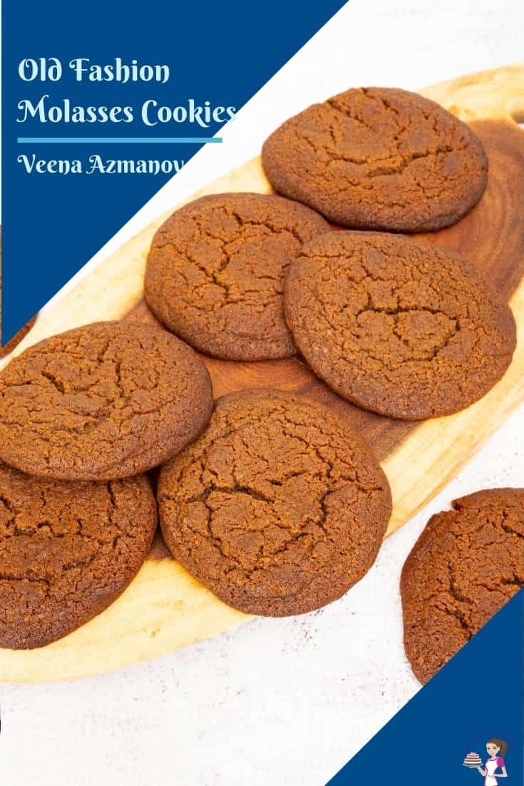 Molasses cookies image for sharing on pinterst
