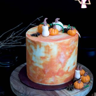 A pumpkin cream cake made with fresh cream in the cake batter as well as whipped cream in the frosting. Perfect for Thanksgiving or Christmas