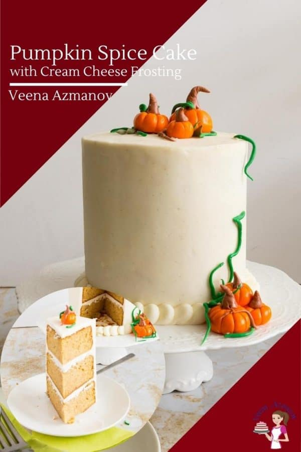 How to make a layer cake with pumpkin spice and cream cheese frosting