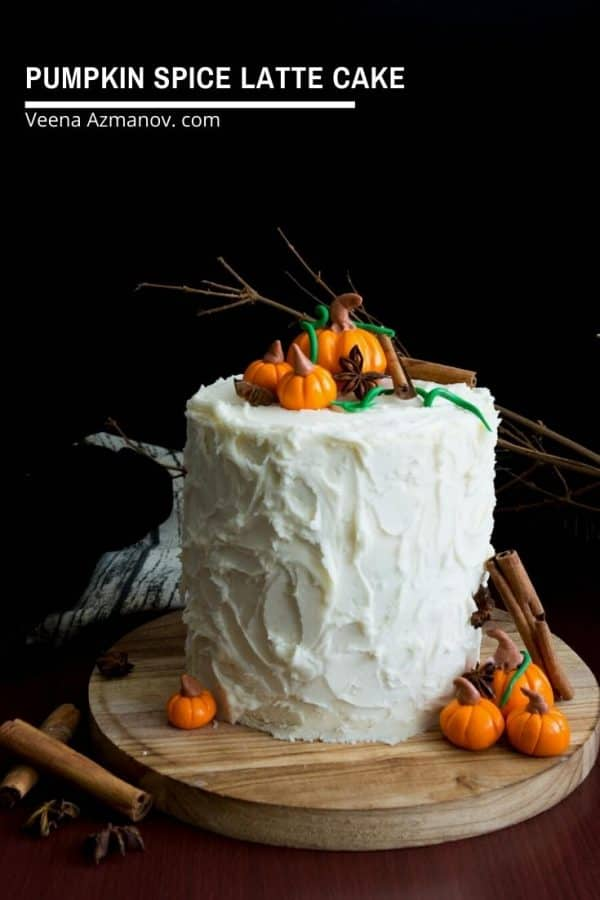 How to make a pumpkin layer cake with spice latte flavors