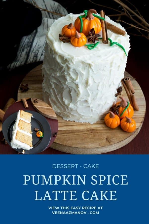 Pinterest image for pumpkin spice cake.