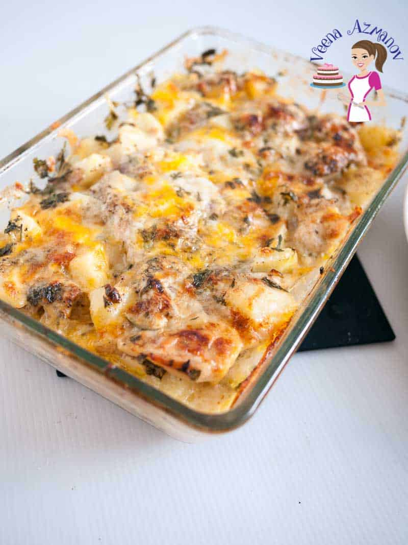This low fat version of the loaded baked chicken potato casserole is perfect comfort food for the winter. A much healthier than the classic.