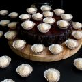 Coconut truffles on display