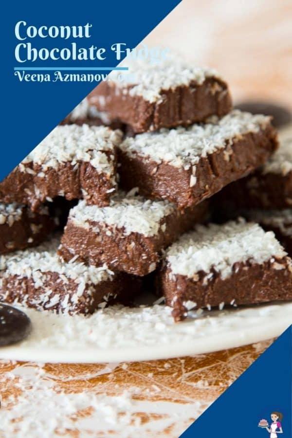 Pinterest image for chocolate fudge