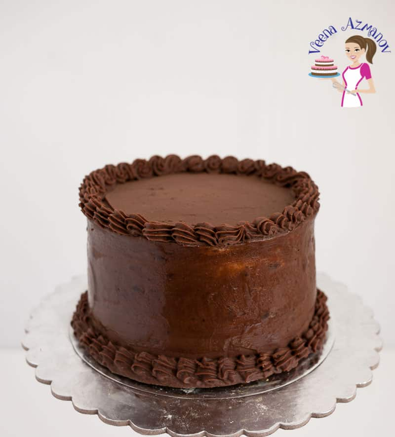 A devils food chocolate cake.