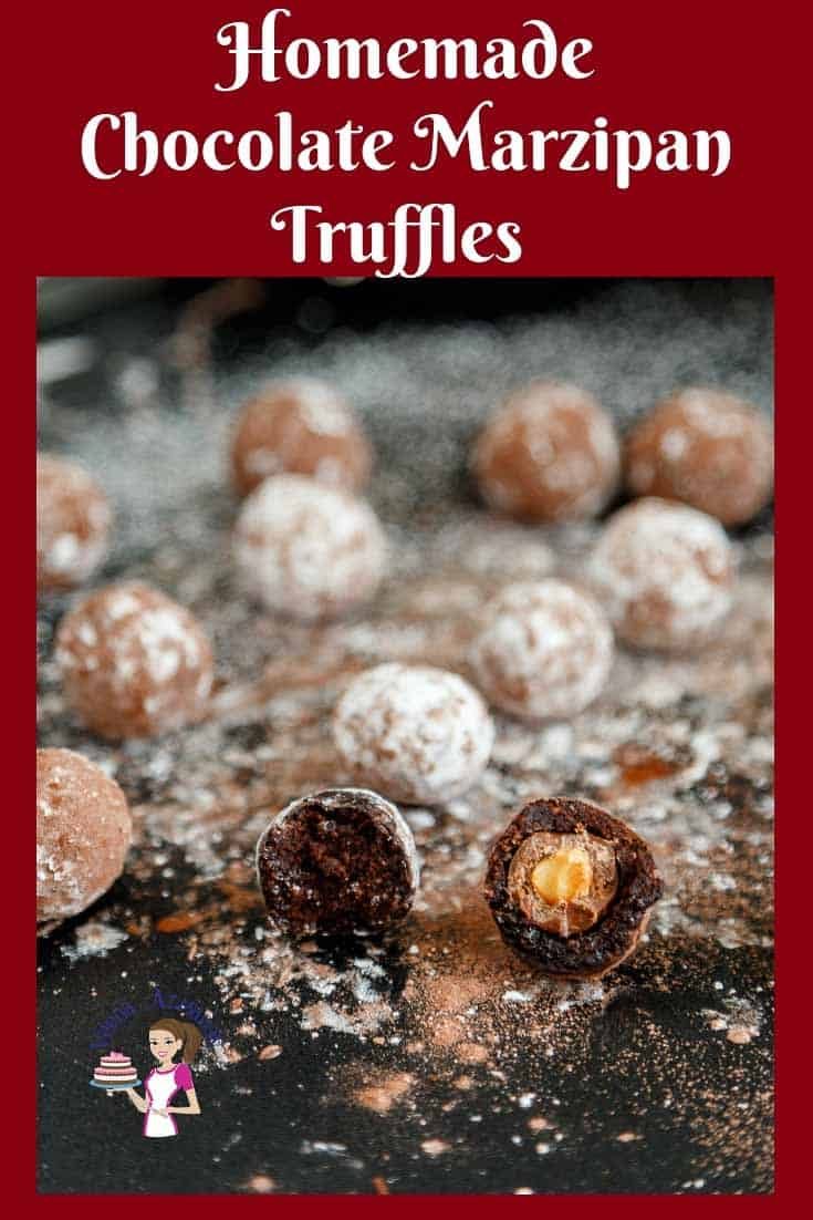 Ultimate Christmas Truffles in 5 minutes -Chocolate Marzipan Truffles made with Homemade Chocolate Marzipan from scratch