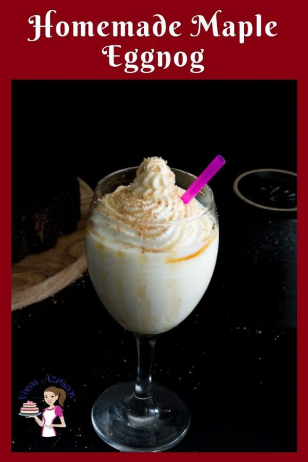 Turn you classic eggnog into a delicious sugar free maple eggnog. Made homemade from scratch.