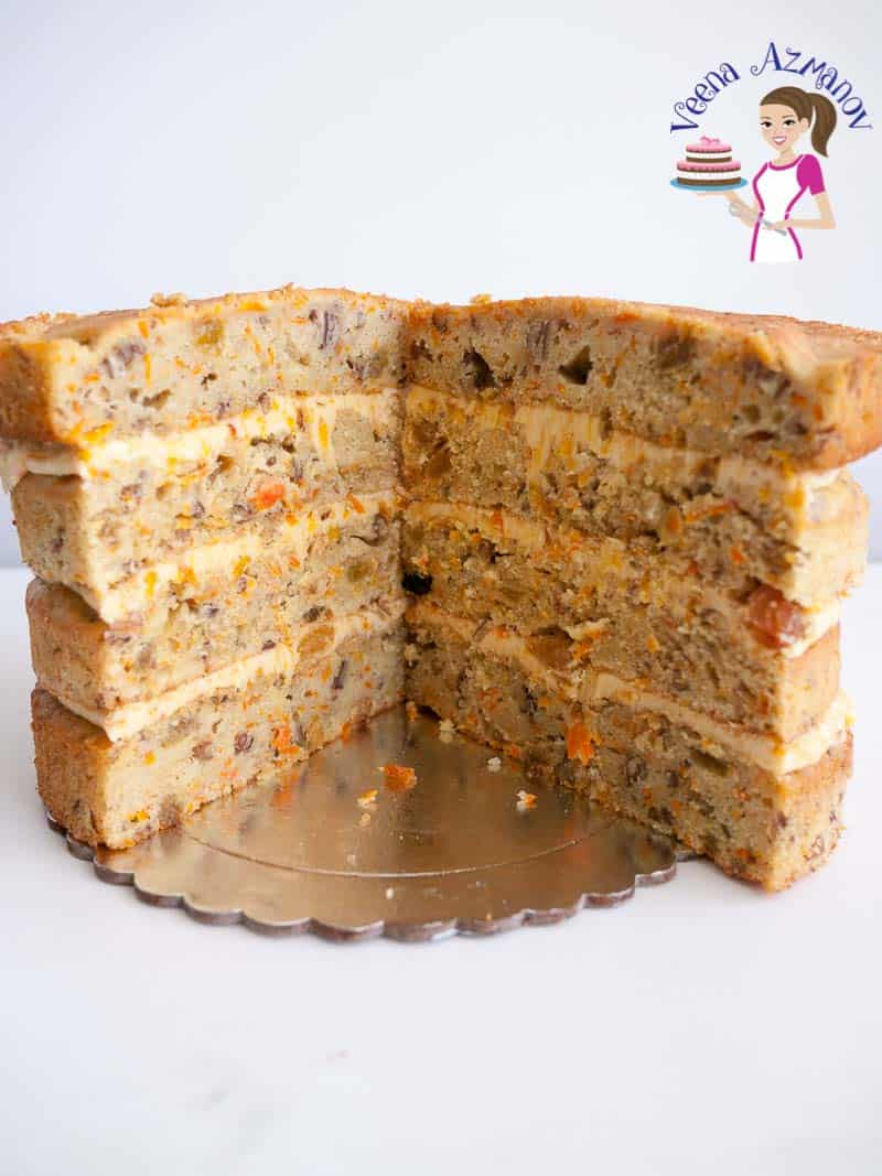 Learn to make the best carrot cake recipe with Apricot Swiss meringue buttercream with this step by step tutorial