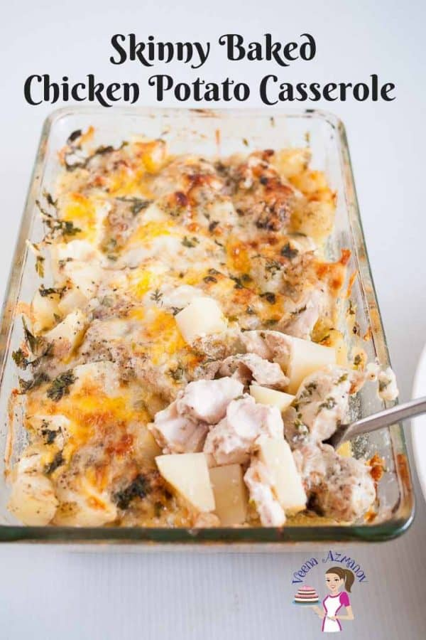 A chicken and potato casserole.