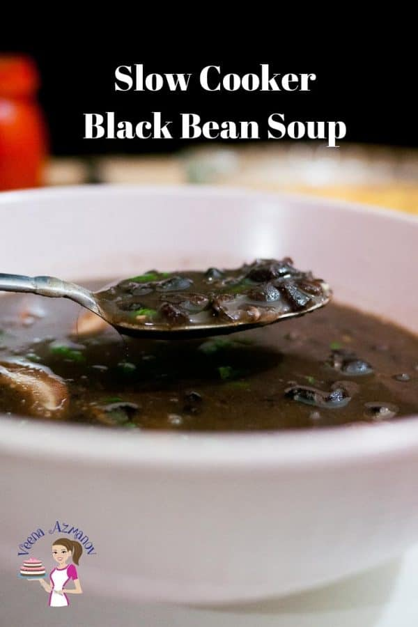 This slow cooker black bean soup is the perfect comfort food you need in winter that wholesome, hearty and delicious.