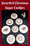 Video tutorial - Stenciled Christmas Sugar Cookies - kids fun projects