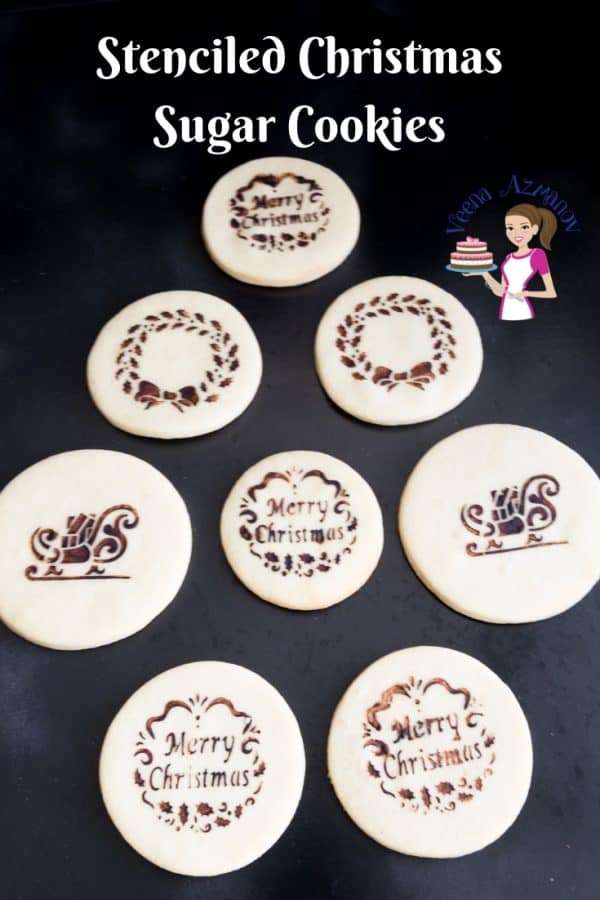 Video tutorial - Stenciled Christmas Sugar Cookies - kids fun projects