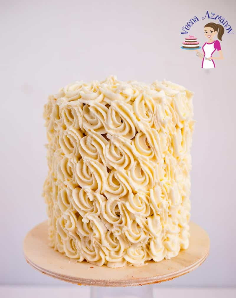 An absolute classic Bakery Style Wedding cake made with all egg whites and white butter takes just 10 minutes to mix and 25 minutes to bake.
