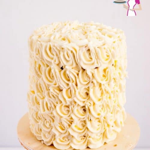 Wedding Cake Recipe.Bakery Style White Wedding Cake Recipe