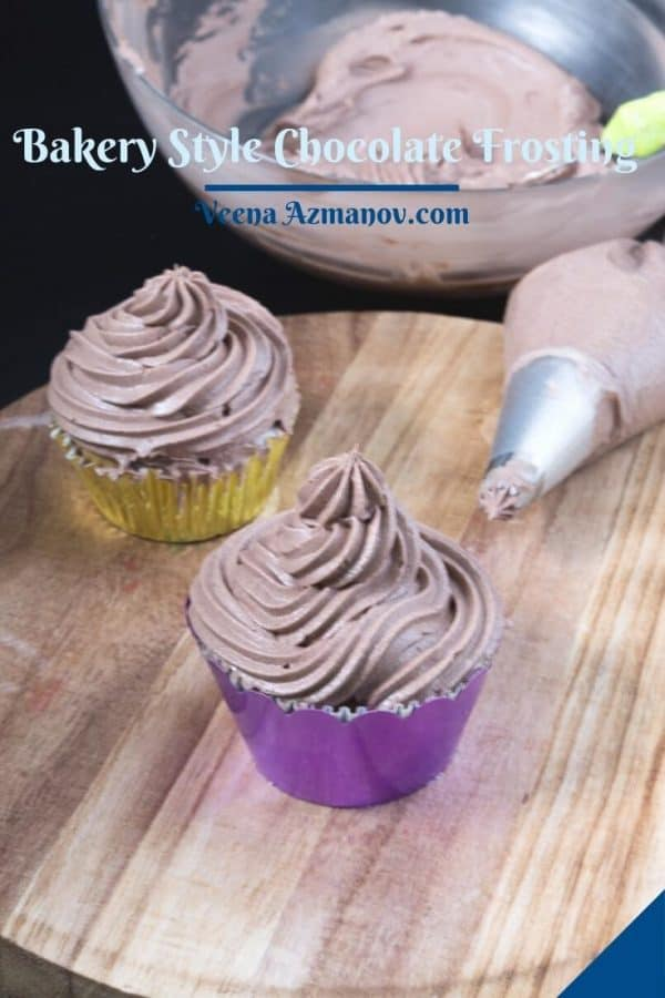 Bakery style chocolate frosting.