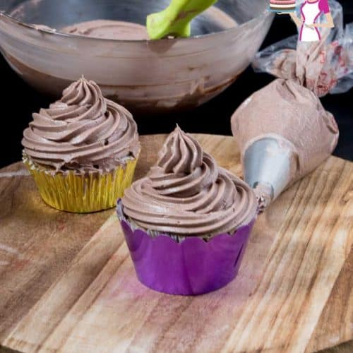 The BEST Bakery Style Chocolate Buttercream Recipe in just 5 minutes