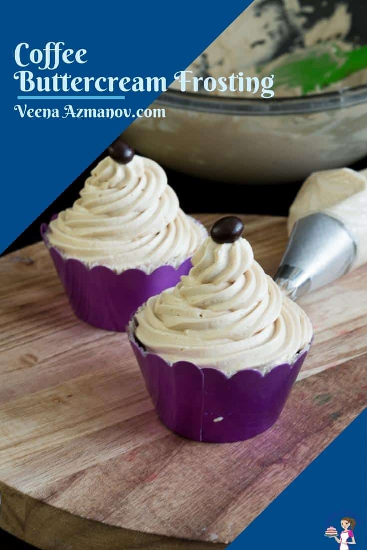 Pinterest image for coffee buttercream