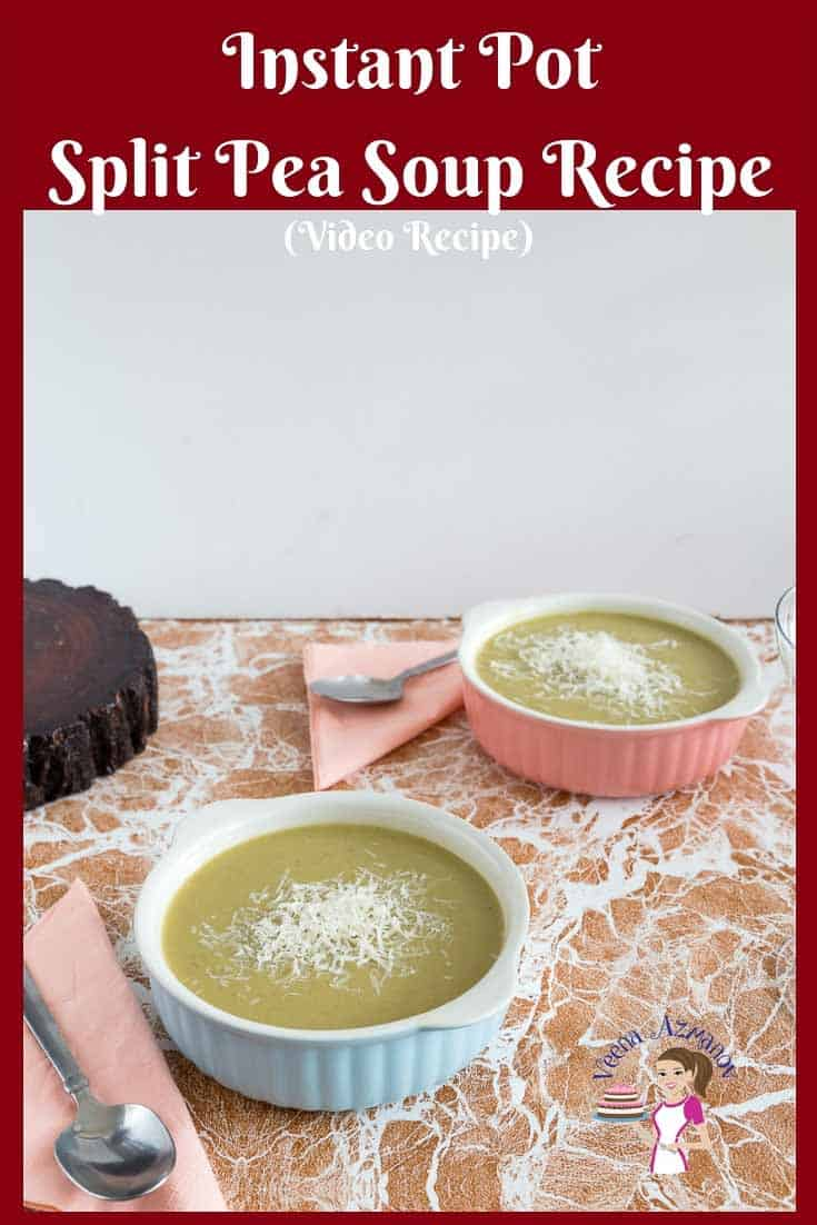 Two bowls of pea soup on a table.