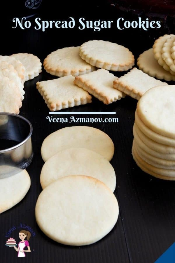 Pinterest image for no spread cookies.