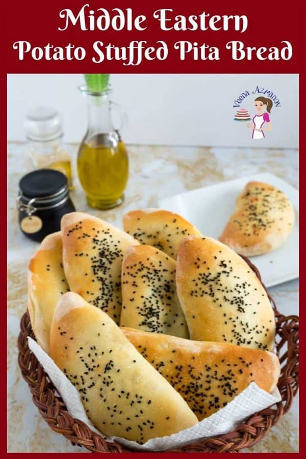 Use the basic Pita bread recipe to make these Potato Stuffed Pita Bread with this simple and easy homemade recipe.