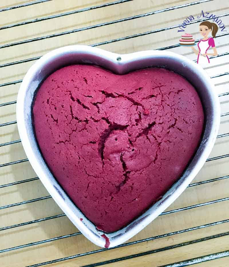 Celebrate Valentines Day with a naked Heart Cake with this strawberry Velvet Cake Recipe.
