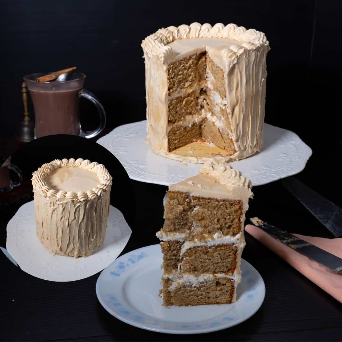 This cafe latte cake with coffee buttercream is a vanilla butter based cake with cafe latte for flavor. Best Coffee Layer Cake Recipe