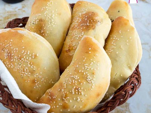 Cheese Stuffed Pita Bread Recipe Veena Azmanov
