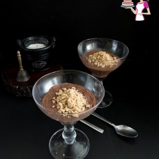 Incredible delicious cheesecake mousse with chocolate flavor.
