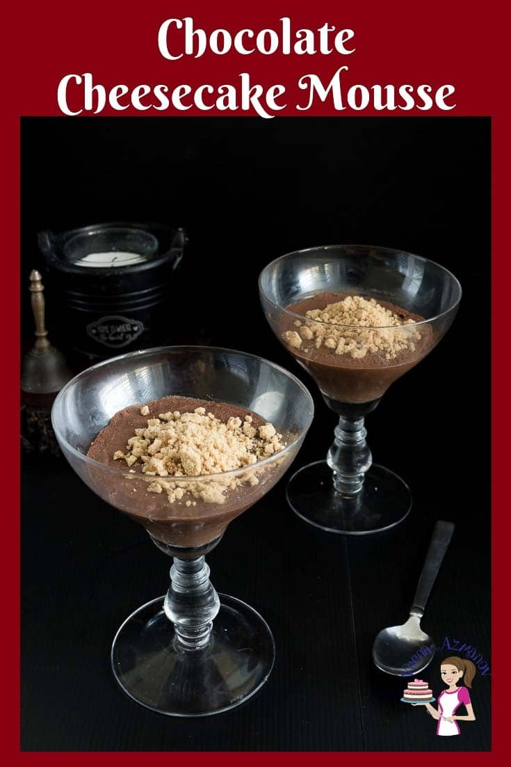 This is probably the best chocolate cheesecake mousse you will make. Rich, creamy, delicious and decadent just melts in the mouth silky smooth. A no-bake cheesecake mousse that takes five minutes to make. #cheesecake #mousse #chocolate #recipe #dessert via @Veenaazmanov