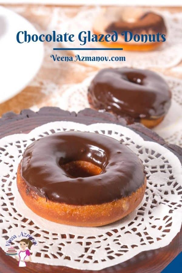 Pinterest image for donuts.