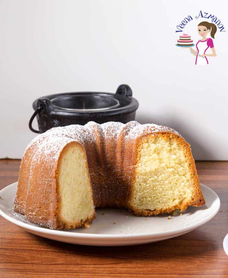 This classic Vanilla Bundt Cake is a Moist Butter Pound Cake Recipe that soft and tender